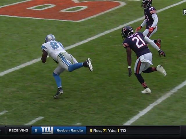 Wenn Calvin Johnson in den Ruhestand geht, ist dies seine letzte Karriere bei der NFL Touchdown