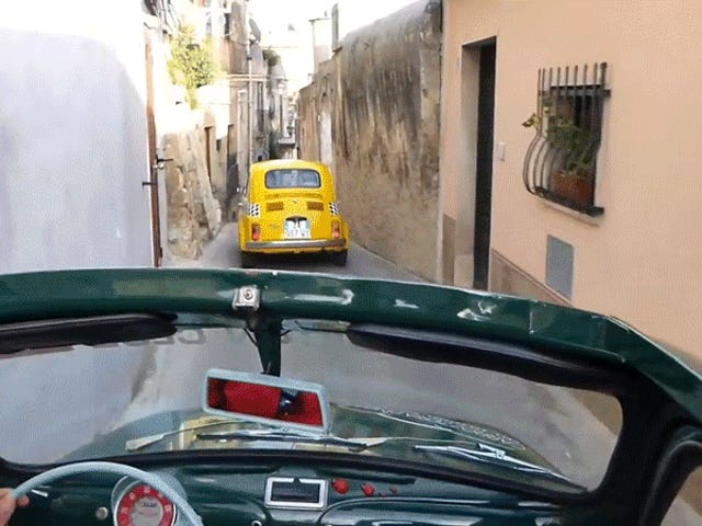 Bless Your Timeline With These Fiat 500s Cutting Through The Italian Streets They Were Built For