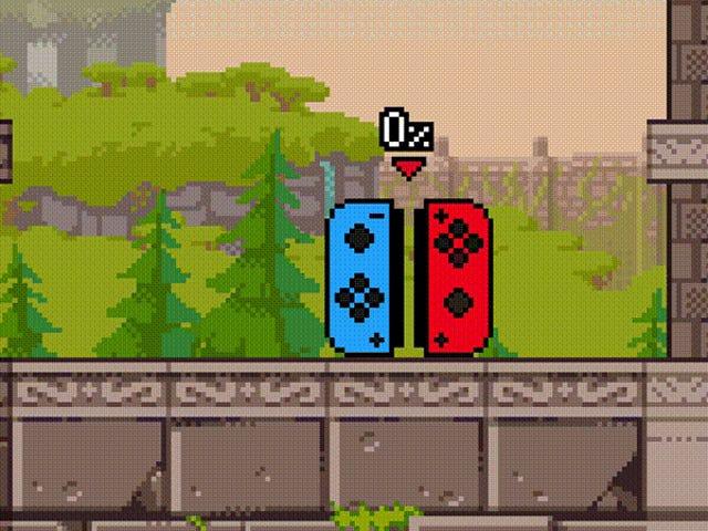 El personaje del juego de lucha Joy-Con es tan preciso que se desplaza constantemente hacia la izquierda