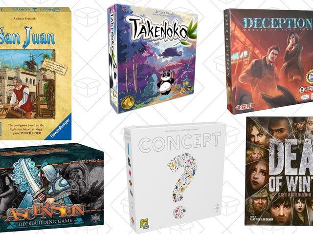 Kies uit bijna 100 gespeelde bordspellen in de eendaagse verkoop van Amazon