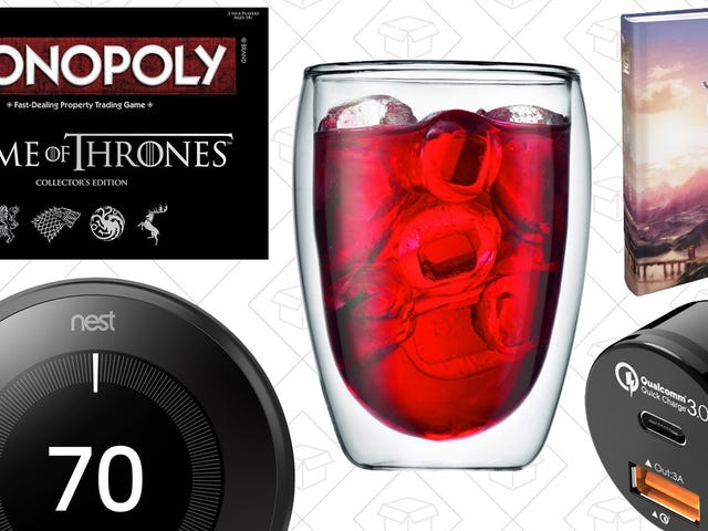 """<a href=""""https://kinjadeals.theinventory.com/todays-best-deals-game-of-thrones-bodum-drinkware-sm-1794291600"""" data-id="""""""" onClick=""""window.ga('send', 'event', 'Permalink page click', 'Permalink page click - post header', 'standard');"""">Today&#39;s Best Deals: <i>Game of Thrones</i>, Bodum Drinkware, Smart Thermostats, and More</a>"""