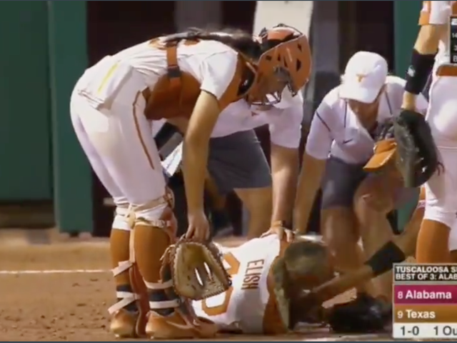 Texas Softball Pitcher Hospitalized After Teammate's Throw Hit Her Straight In The Face