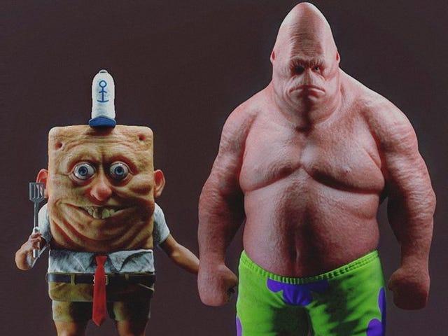 Estas versiones hiperrealistas de tus personajes animados favoritos son tan terroríficas que arruinarán tu infancia