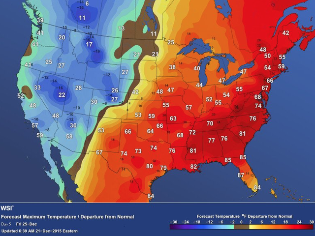 9 Maps That Show How Completely Bizarre Your Christmas Eve Weather Will Be
