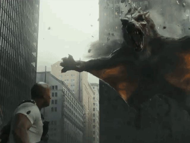 Of Course the Second Rampage Trailer Introduces a Rage-Filled Flying Wolf