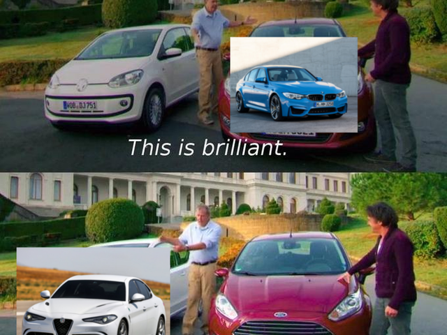 Top Gear meme format dump