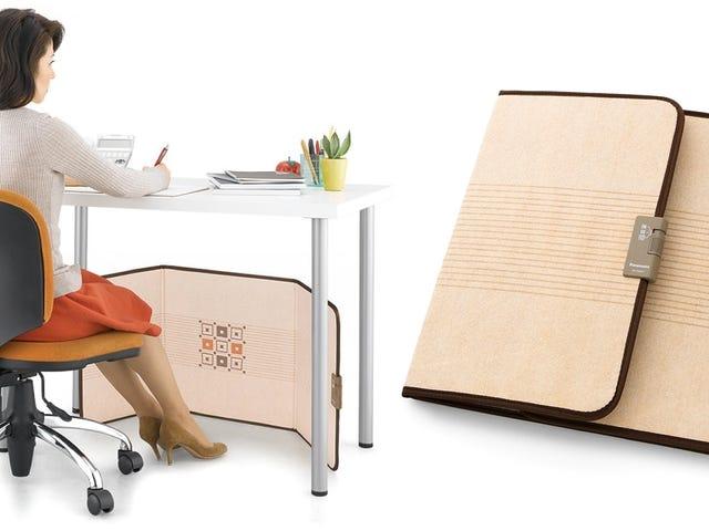 คุณสามารถเก็บเครื่องทำความร้อนใต้โต๊ะพับไว้ในตู้เก็บเอกสารได้จนกว่าจะเย็นลง