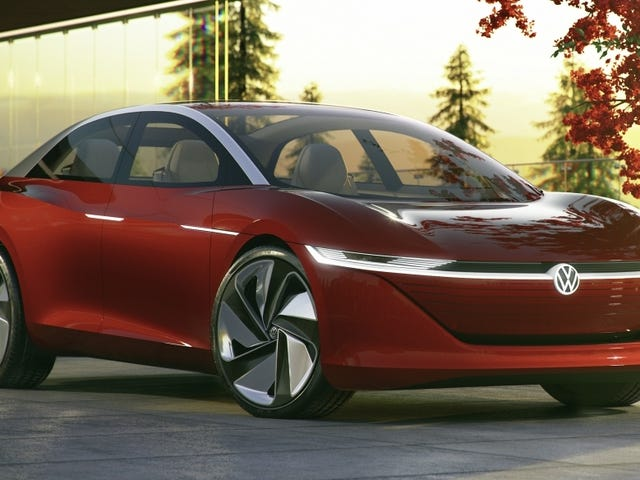 The Volkswagen I.D. Vizzion Will Get A Bigger Battery Than Anything Tesla Makes