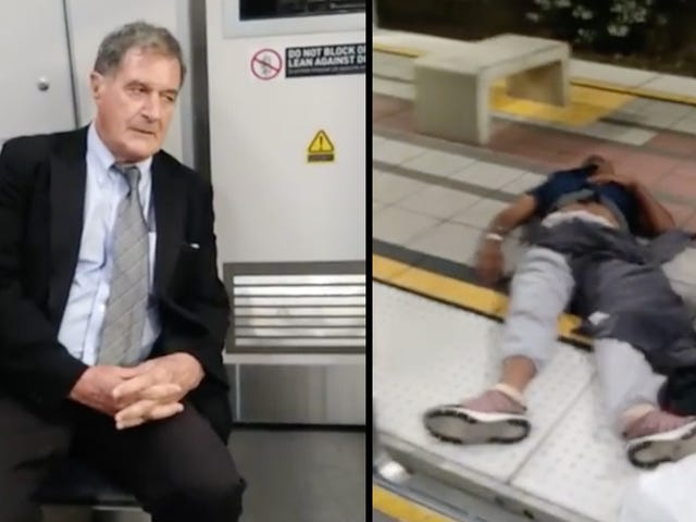 Watch: Long Beach Police Investigating Video of White Man Dragging Unconscious Man Off Train