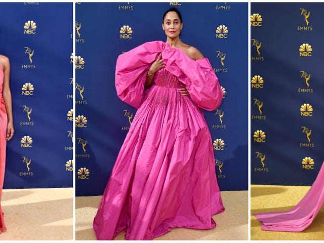 Think Pink: Our Faves Were Coming Up Roses at the 2018 Emmys ... and in Nike ... and Whiteface?