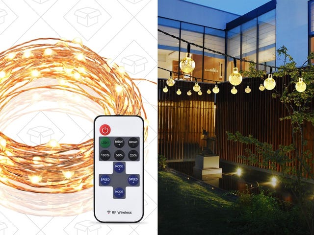 Choose From Two String Light Sets For $10 Or Less