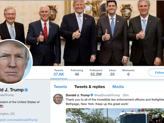 It Is Illegal for Donald Trump to Block You on Twitter Just Because He Is a Big Baby Who Can't Take Criticism
