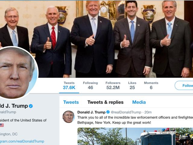 É ilegal Donald Trump bloqueá-lo no Twitter só porque ele é um bebê grande que não aceita críticas