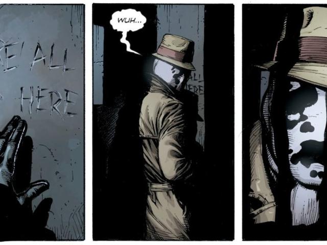 <i>Doomsday Clock</i> เปิดเผยว่าใครเป็นใครสวมหน้ากากของ Rorschach และทำไม <em></em><em></em><em></em>