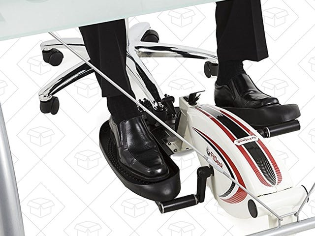 Get a Workout While You Work With This Under-Desk Elliptical