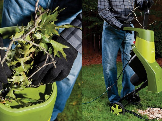 Put Autumn Tree Debris to Work With This $80 Wood Chipper