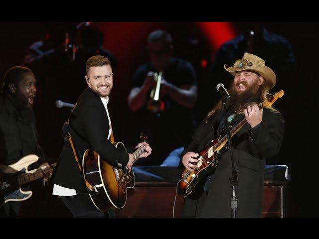 Estoy algo enamorado de Justin Timberlake y Chris Stapleton después de este dueto de CMA