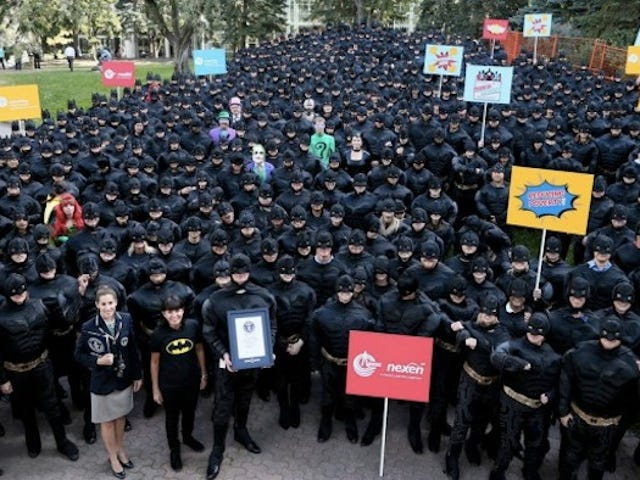 These Dark Knights Hold The World Record For Most Batmen Ever