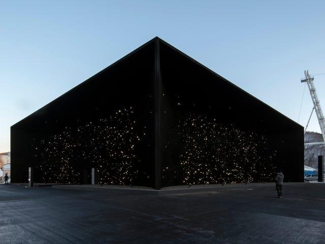 Mein neues Zuhause ist dieser voidartige Pavillon in Pyeongchang, gemalt im schwärzesten Schwarz der Welt