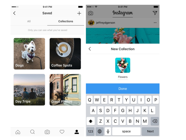 Instagram Adds Collections to Help Organize Bookmarked Posts