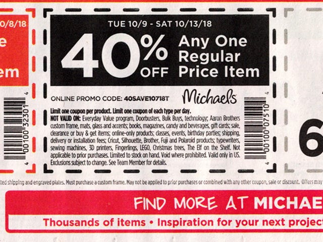 50% Off at Michaels/2 Days Only