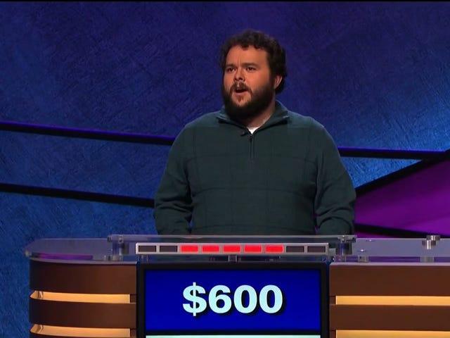 <i>Jeopardy</i> campione di <i>Jeopardy</i> ovviamente non guarda la ciotola di ferro