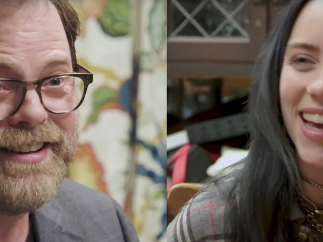 Billie Eilish endures an intense quiz from Rainn Wilson, reigns as the ultimate Office fan