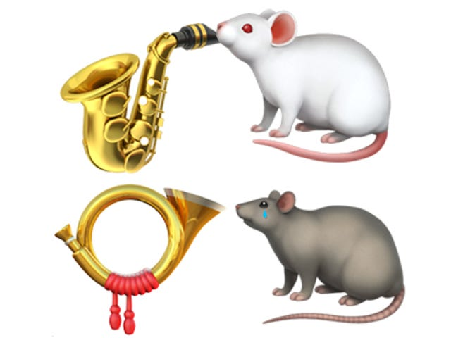 I'm Begging You Emoji Overlords, Rescue This Adorable Animal Horn Section