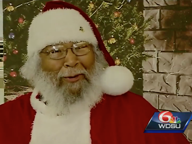 Tons of Kids Have Photos With New Orleans' Black 7th Ward Santa Claus