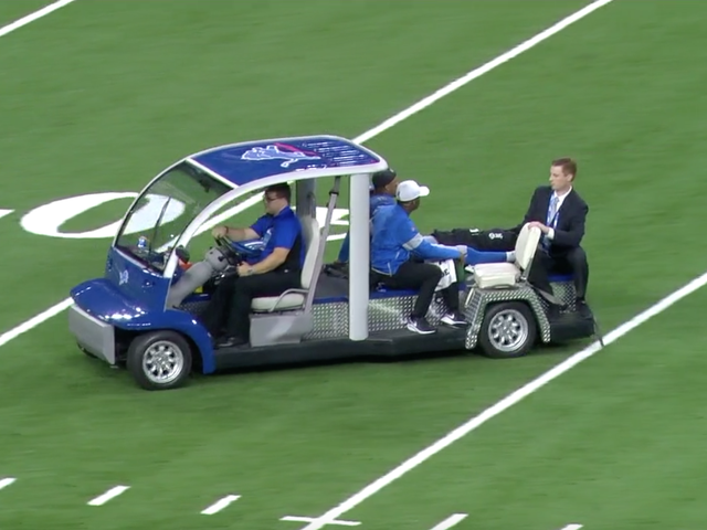 Lions' Jermaine Kearse Carted Off Field After Leg Injury [Update]