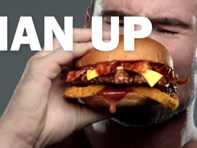 New Ads Stress That Thick, Juicy Burgers Are Definitely Not for Ladies