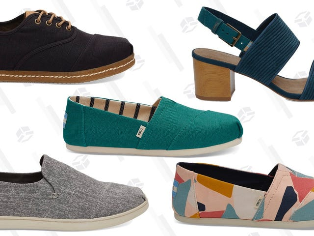 Save an Extra 30% on a Bunch of TOMS Best Sellers