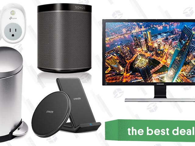 Wednesday's Best Deals: Sonos Speakers, 4K Monitor, simplehuman Trash Cans, and More
