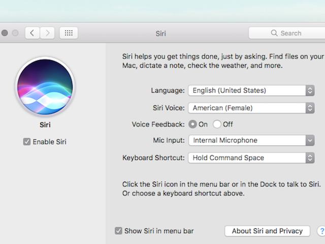 Amenez Siri sur macOS Sierra avec un raccourci clavier