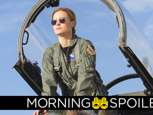 Pictures From Captain Marvel's Reshoots, Teasers for HBO's Watchmen, and More