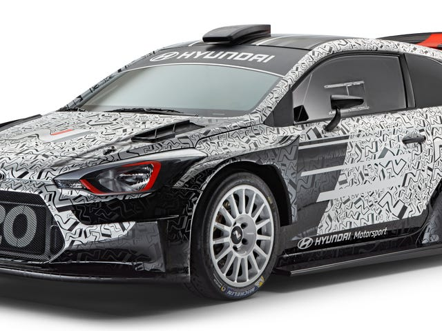 Marvel At The Wide Hips, Huge Wing And General Insanity Of Hyundai's 2017 i20 WRC Car