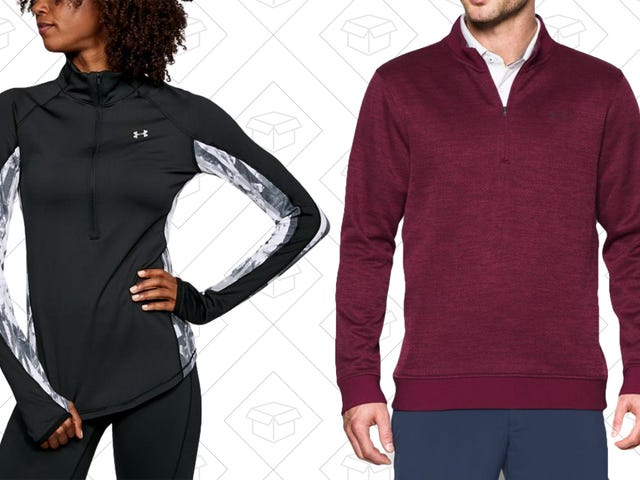 Layer More Than Your Thanksgiving Plate With Up to 30% Off Under Armour 1/4 and 1/2 Zips