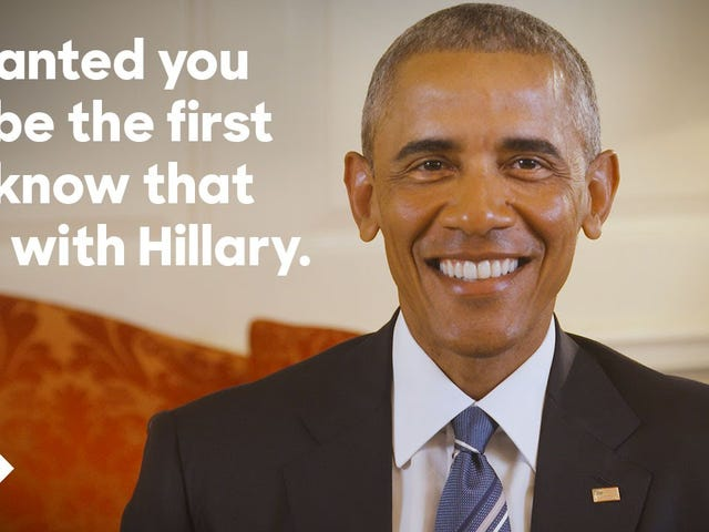 El presidente Obama ha respaldado oficialmente a Hillary Clinton para presidente