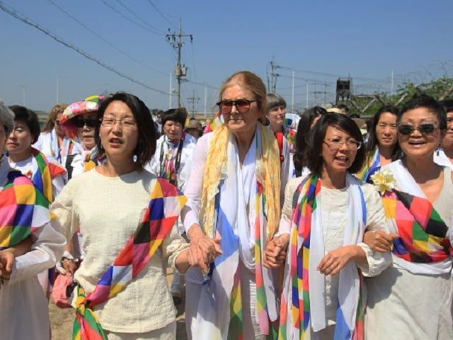 Gloria Steinem and Female Activists Cross Border Into North Korea