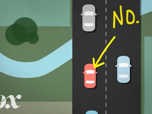 더 차가운 운전자가 왼쪽 차선에서 걸어 다니지 않아야하는 이유