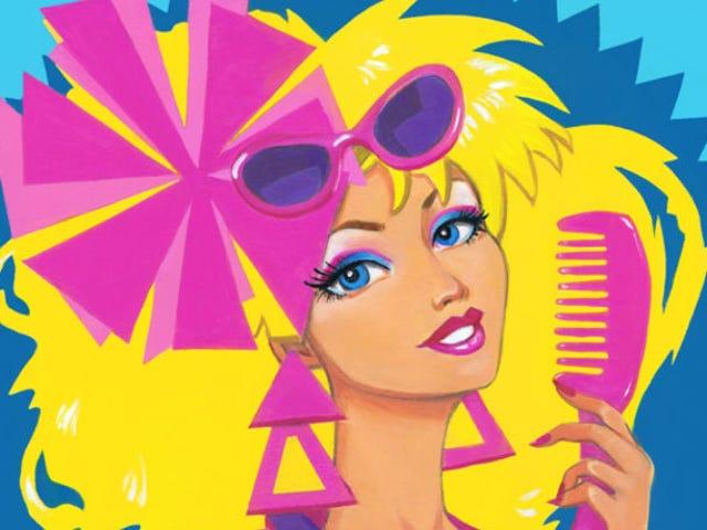 Han-Man och Barbie Star i en New Mattel Art Tribute Show