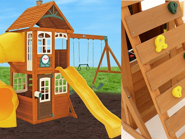 Save $950 on a Backyard Fixture That Will Trick Your Kids Into Exercising