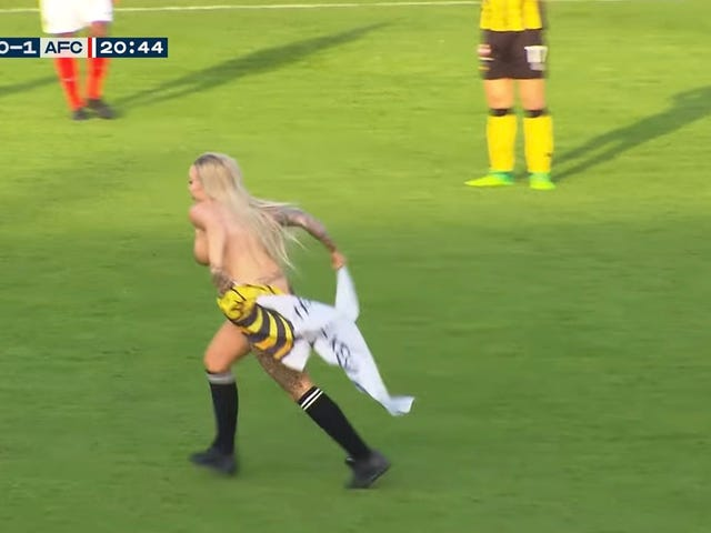 Dutch Soccer Fans Hire Stripper To Run On Field And Distract Opponents