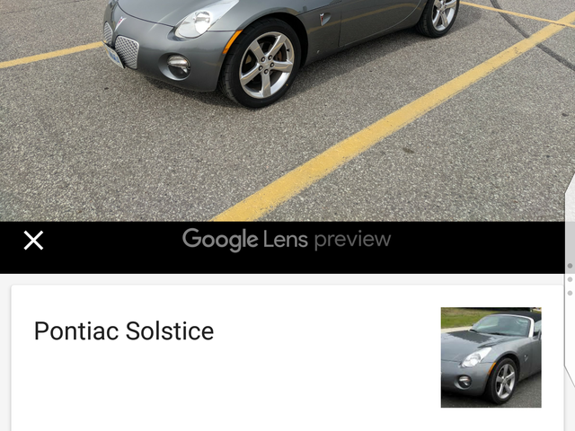 Yeah I don't think Google Lens works very well.