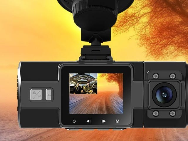 Save $50 On a Dash Cam That Also Films Backwards