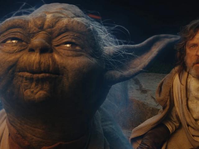 Luke og Yoda har en tvist om en fest og en pind i denne dårlige læbe-læsning af The Last Jedi