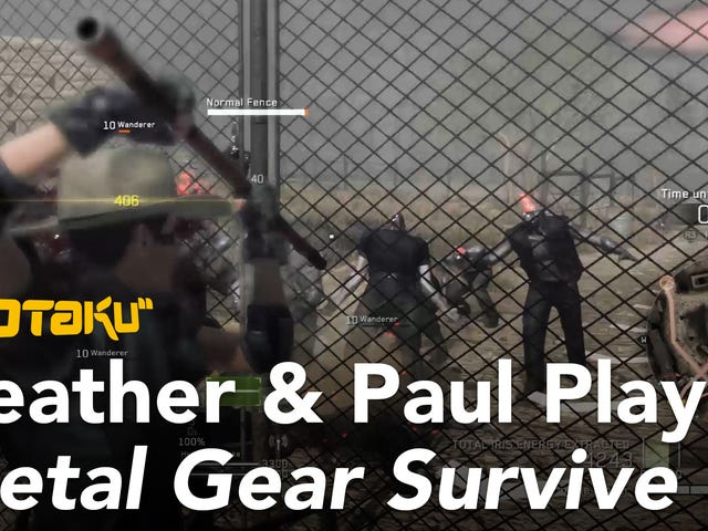 Watch Us Play <i>Metal Gear Survive</i>'s Absurd Horde Mode