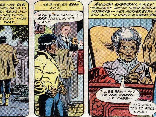 Den gangen en gammel dame prøvde å få Luke Cage til å myrde noen