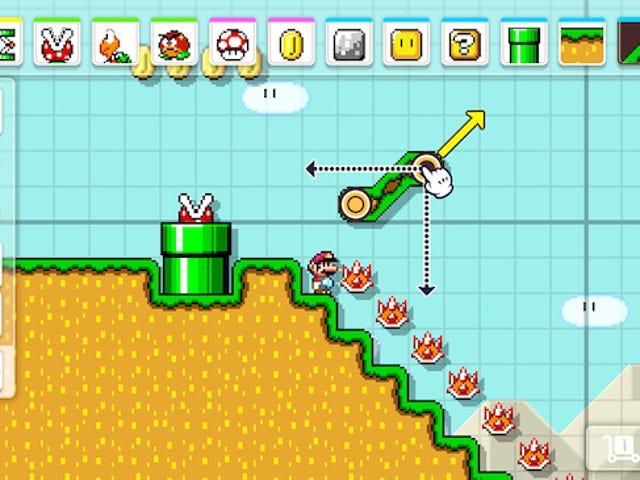Devo ritagliare un po 'di carta e penna per Super Mario Maker 2