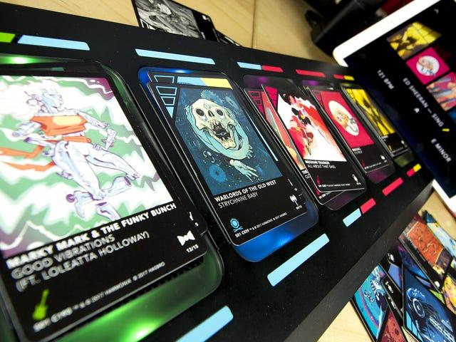 Um jogo de cartas que faz Mashups de música incrível